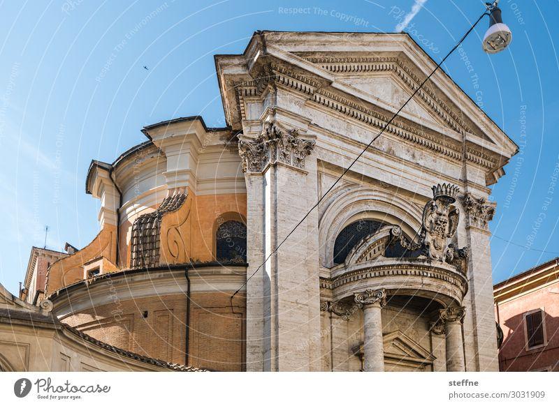 Chiesa 2 Kirche Religion & Glaube Italien Rom Barock bernini rundhaus Portal Sommer Kulturdenkmal Christentum Katholizismus Architektur Sehenswürdigkeit