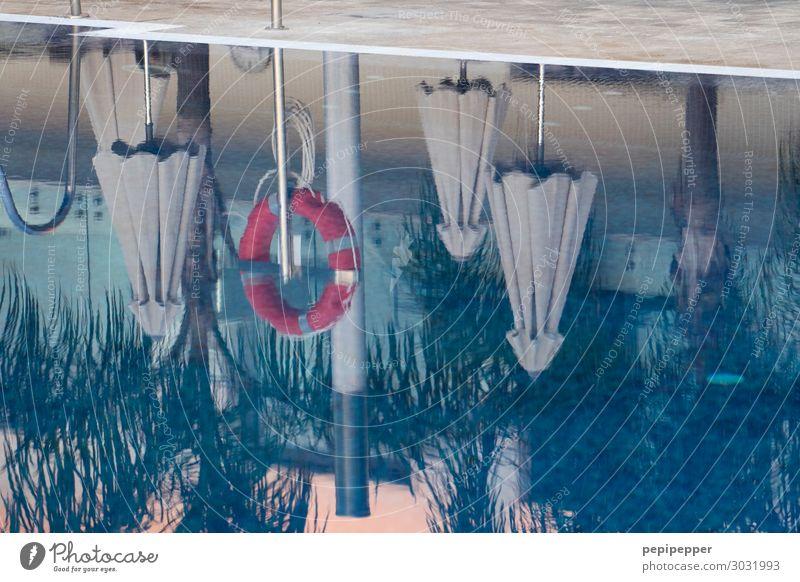 pool Freizeit & Hobby Ferien & Urlaub & Reisen Tourismus Sommerurlaub Sonnenbad Häusliches Leben Wasser Schwimmbad Rettungsring Schwimmen & Baden tauchen blau