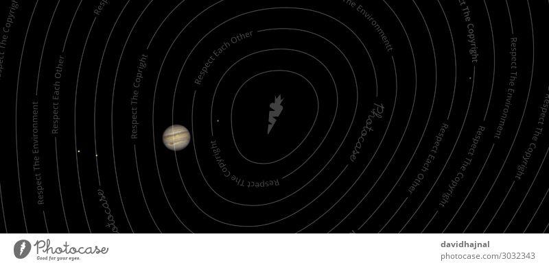 Jupiter mit Galileischen Monden Himmel Natur Umwelt Deutschland Europa Technik & Technologie Zukunft Stern beobachten Wolkenloser Himmel Fernweh Wissenschaften