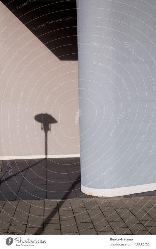 Schattenspiel Architektur Stadt Bauwerk Gebäude Mauer Wand Straßenbeleuchtung Wege & Pfade Tunnel Stein Beton ästhetisch außergewöhnlich einfach Ordnung