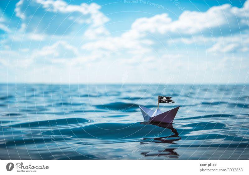 Piraten Papierschiff | Abenteuer-Urlaub Freude Freizeit & Hobby Spielen Basteln Modellbau Ferien & Urlaub & Reisen Freiheit Kreuzfahrt Sommer Sommerurlaub Sonne