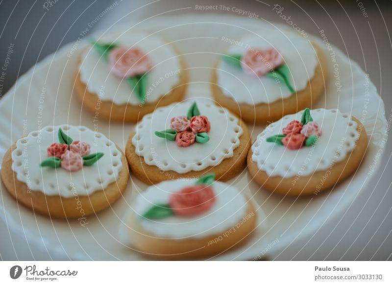 Kekse mit Zuckerpaste verziert Lebensmittel Kuchen Dessert Süßwaren Lifestyle Paris ästhetisch trendy lecker Reichtum Plätzchen kochen & garen Keksdose Party