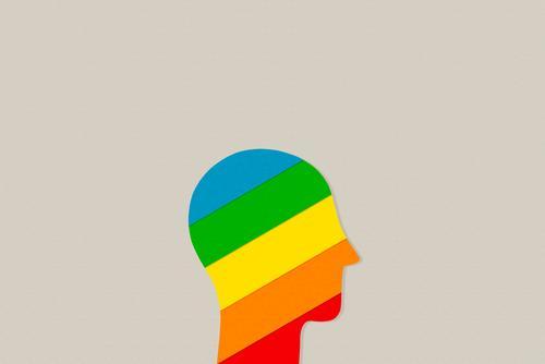 Innen bunt Mensch Farbe Leben Gefühle Kunst Freiheit Kopf Design träumen Fröhlichkeit Kreativität Lebensfreude Zukunft einzigartig Neugier Ziel