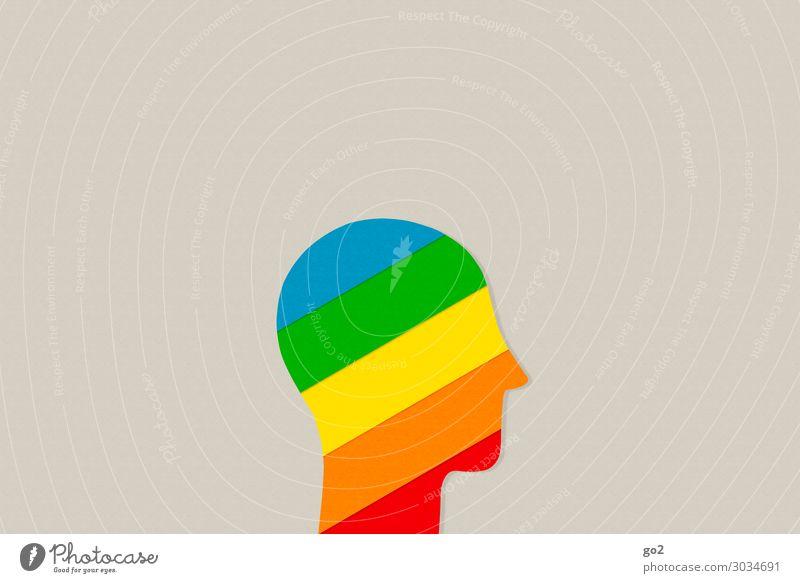 Innen bunt Mensch Kopf 1 Gefühle Fröhlichkeit Solidarität Toleranz Leben Neugier Überraschung Design einzigartig erleben Farbe Freiheit Identität innovativ