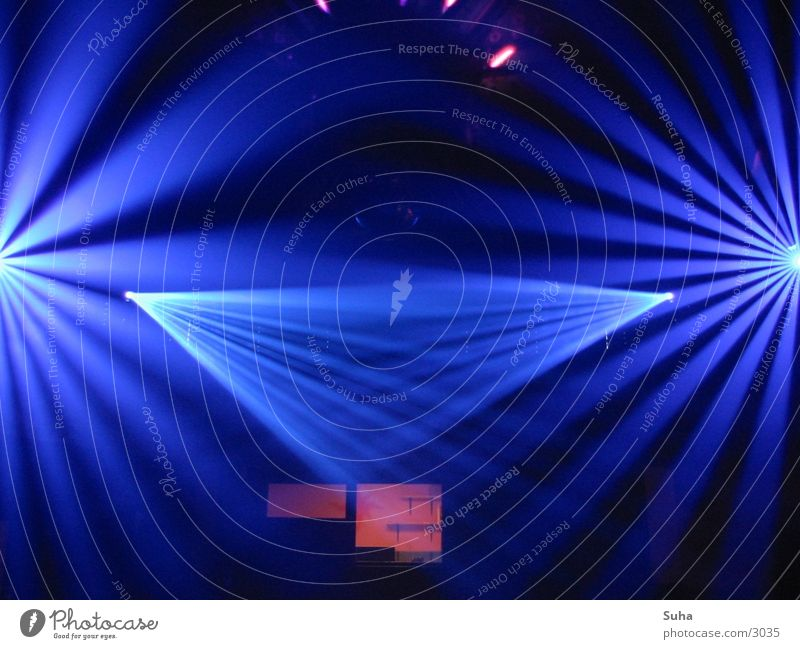 Ray of Light blau Party Disco Club Tunnel Reaktionen u. Effekte Scanner