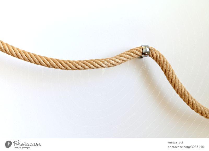 Verdreht und Festgehangen Wohnung Treppengeländer Design Seil Haus Mauer Wand Knoten gebrauchen hängen tragen Häusliches Leben modern natürlich retro Sicherheit