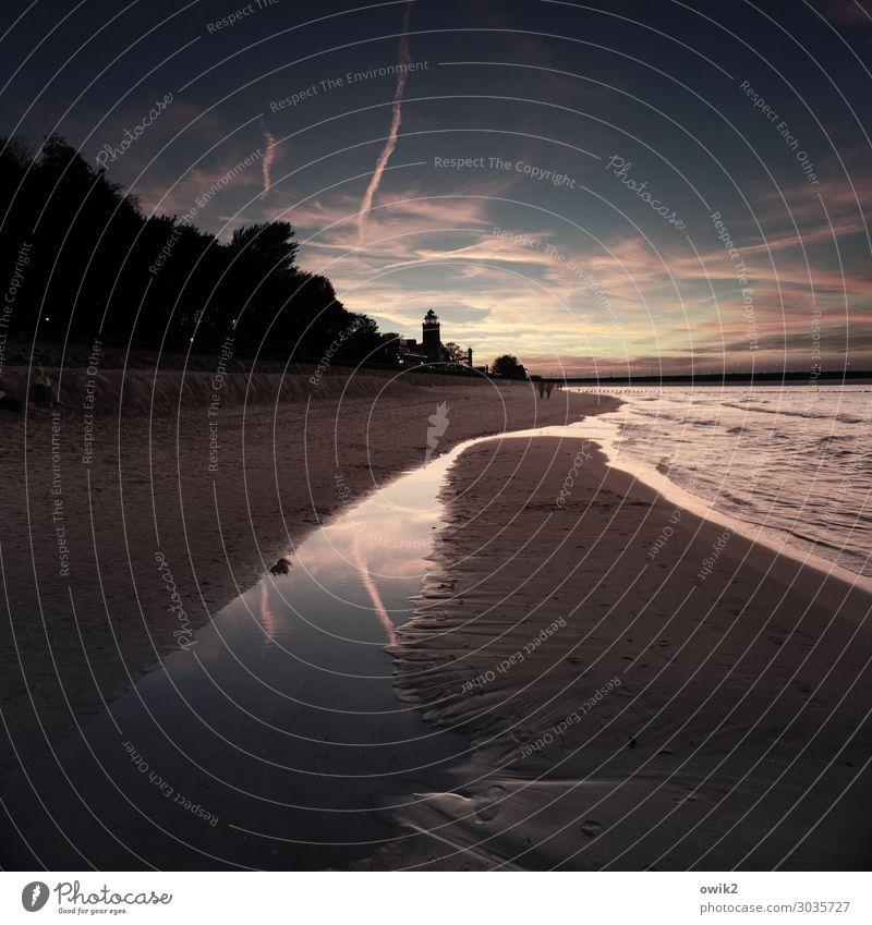 Strandabend Mensch 4 Umwelt Natur Landschaft Sand Wasser Himmel Wolken Nachthimmel Horizont Herbst Schönes Wetter Wellen Küste Ostsee Kolberg Kolobrzeg Polen