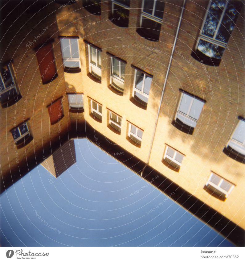 innenhof Sonne Haus Fenster Architektur Schornstein Innenhof Braunschweig Lichthof