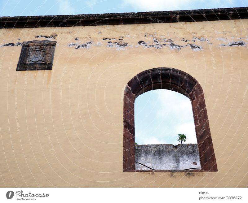 luftig | im Stübchen Himmel Stadt Baum Haus Fenster Architektur Leben Religion & Glaube Wand Zeit Mauer Fassade Kirche Kreativität Lebensfreude Schönes Wetter