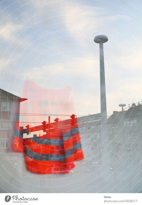 Feierabend Raum Arbeit & Erwerbstätigkeit Arbeitsplatz Büro Dienstleistungsgewerbe Handwerk Baustelle Warnweste Himmel Wolken Horizont Schönes Wetter Kassel