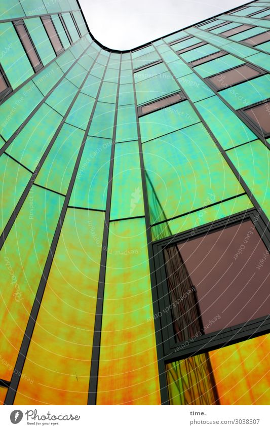 ArtHaus (II) Kunst Architektur Traumhaus Hochhaus Bauwerk Gebäude Mauer Wand Fassade Fenster Glasfassade Sehenswürdigkeit Linie Streifen mehrfarbig ästhetisch