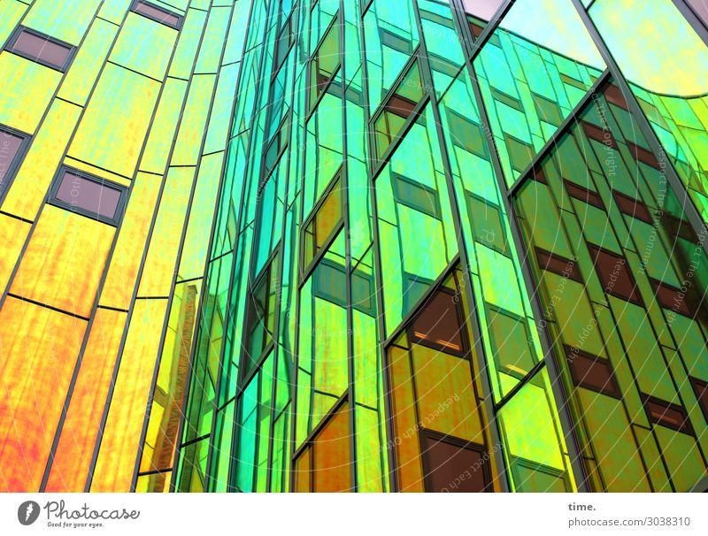 ArtHaus (I) Kunst Architektur Traumhaus Hochhaus Bauwerk Gebäude Mauer Wand Fassade Fenster Glasfassade Sehenswürdigkeit Linie Streifen mehrfarbig ästhetisch
