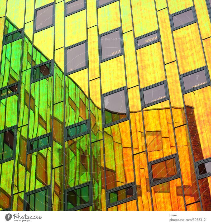 ArtHaus (III) Kunst Architektur Traumhaus Hochhaus Mauer Wand Fassade Fenster Glasfassade Sehenswürdigkeit Linie Streifen mehrfarbig ästhetisch Partnerschaft