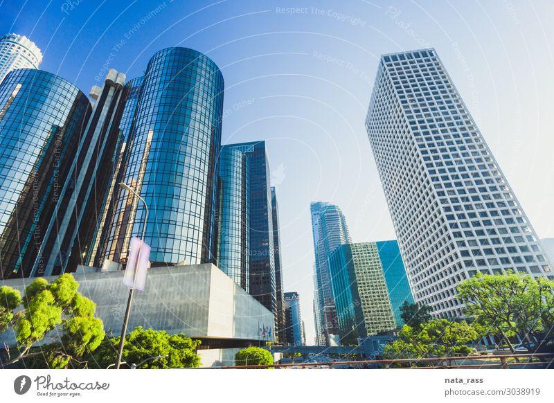 Stadtzentrum von Los Angeles Skyline Stadtbild La Großstadt Kalifornien Ansicht USA Business Hintergrund modern reisen Architektur Büro Gebäude ca finanziell