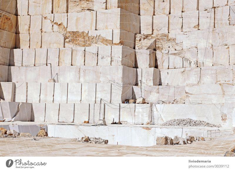Trapani Marble Industrie Baustelle Mine Bergbau Kunstwerk Skulptur Architektur Umwelt Erde Menschenleer Stein ästhetisch eckig Wärme braun gelb gold orange weiß