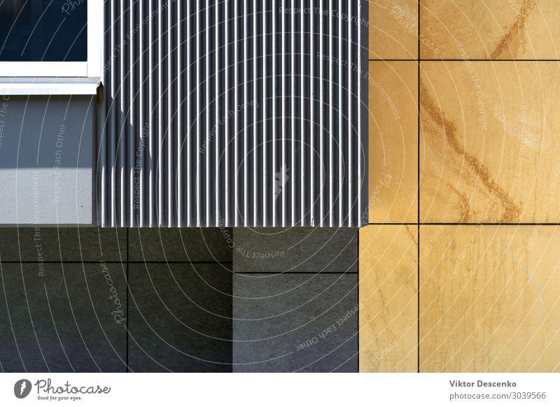 Fragment der Fassade eines modernen Hauses Stil Design Sommer Wohnung Arbeit & Erwerbstätigkeit Technik & Technologie Landschaft Gebäude Architektur Stein