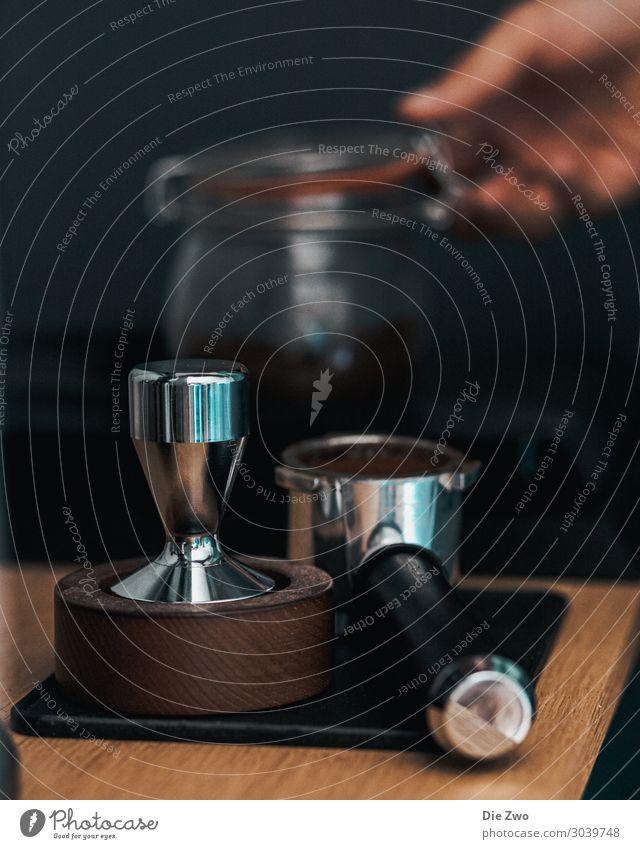 Making Coffee II Getränk Heißgetränk Kaffee Latte Macchiato Espresso Lifestyle elegant Erholung ruhig braun Lebensfreude Espressomaschine Farbfoto Innenaufnahme