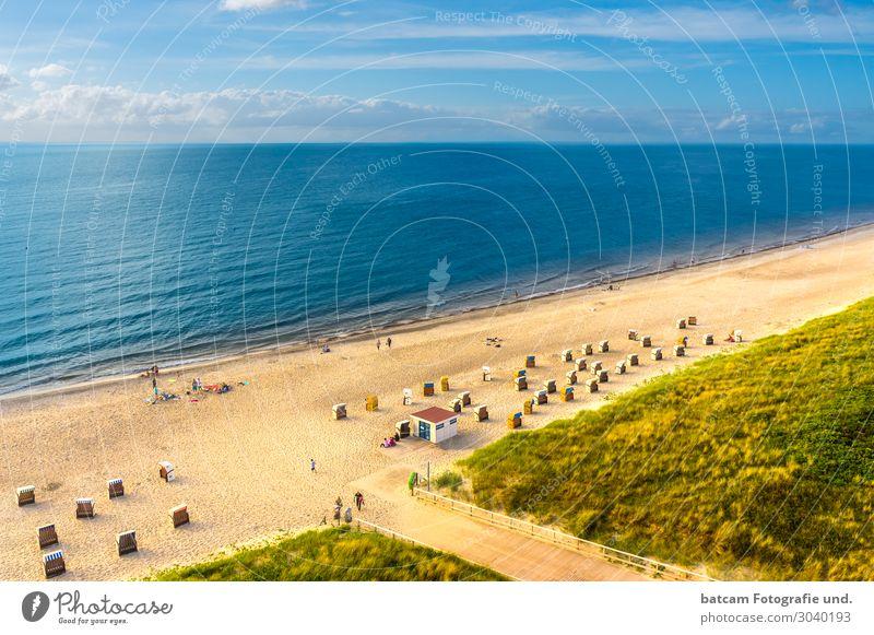 Luftbild Ostseestrand Ostseebad Dierhagen Mensch Ferien & Urlaub & Reisen Natur Sommer blau grün Wasser weiß Landschaft Sonne Meer Erholung Strand Lifestyle