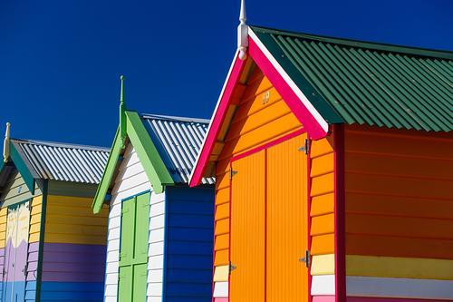 Ferien & Urlaub & Reisen blau Farbe schön grün weiß Landschaft Haus Freude Lifestyle Graffiti lustig Küste Glück Kunst Tourismus