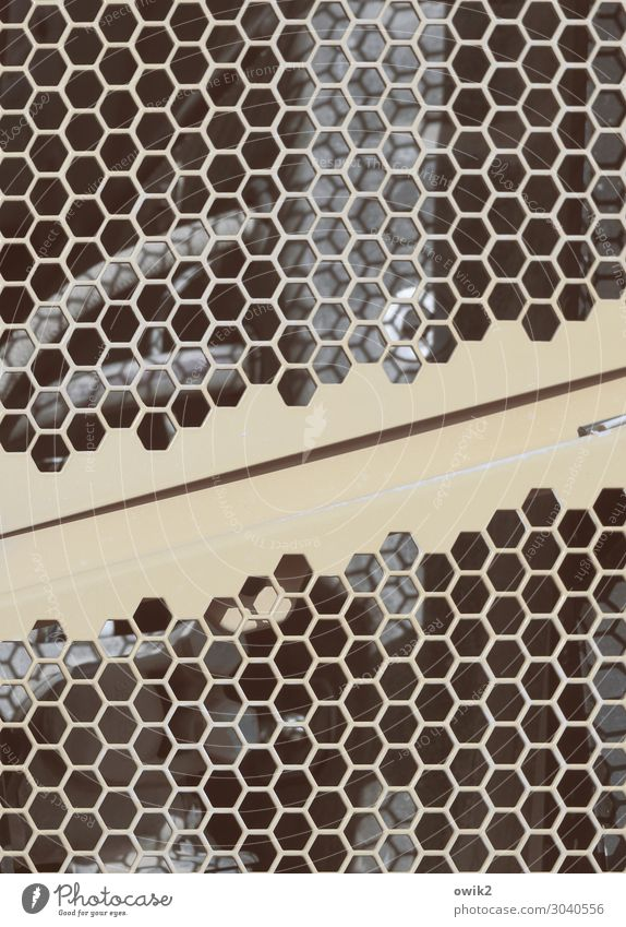 Projekt Gitterrost Kühlergrill Wabenmuster Metall komplex Farbfoto Gedeckte Farben Außenaufnahme Detailaufnahme abstrakt Muster Strukturen & Formen Menschenleer