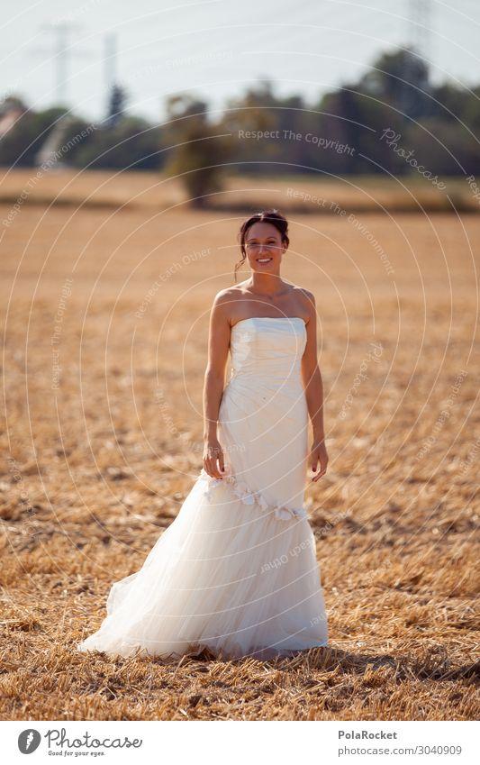 #AS# Hochzeitsfeld I Kunst Kunstwerk ästhetisch Braut Brautkleid Brautschleier Kleid Frau Zeremonie Hochzeitszeremonie weiß Farbfoto Gedeckte Farben