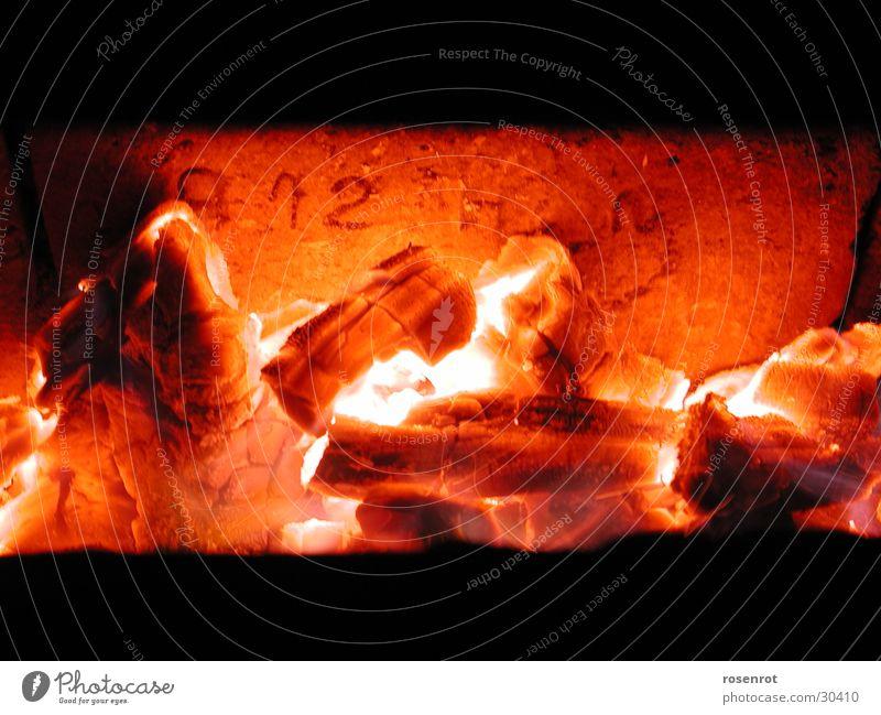 Glut glühen heiß Dinge Brand Glutrot