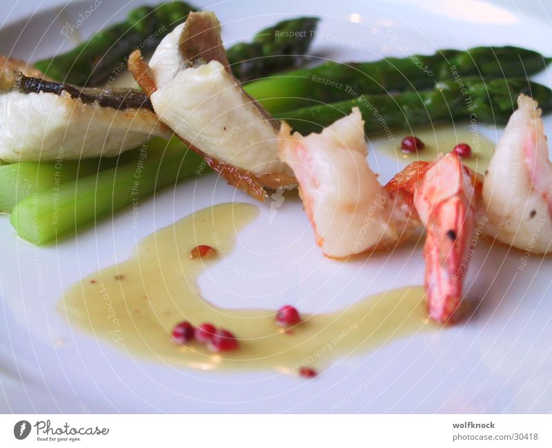 jummi Garnelen Meeresfrüchte Ernährung Spargel pfeffersuace pfefferkern suce
