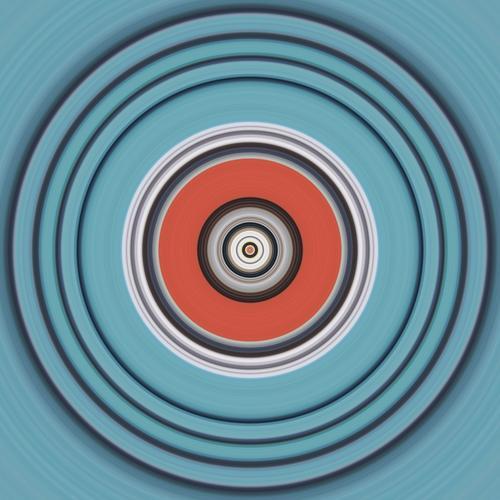 Circle Design harmonisch Yoga Kultur Musik Compact Disc Schallplatte Medien rund ästhetisch Bewegung bizarr Farbe Idee Kommunizieren komplex Konzentration