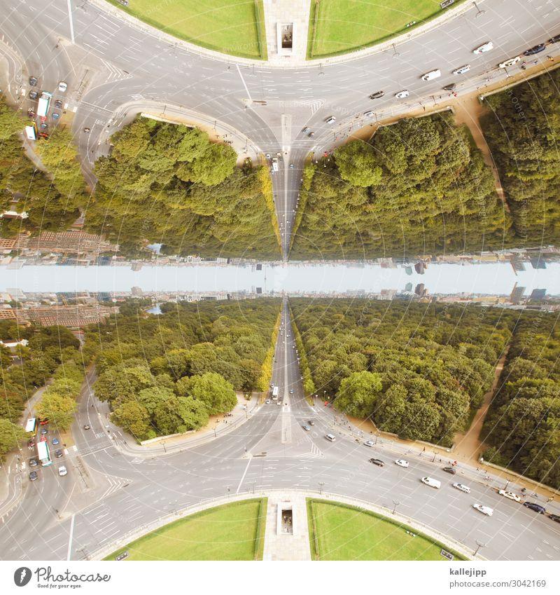 berlin|nilreb Stadt Hauptstadt Stadtzentrum Haus außergewöhnlich Kreisverkehr Straßenverkehr grosser stern Straße des 17. Juni Siegessäule Tiergarten Berlin