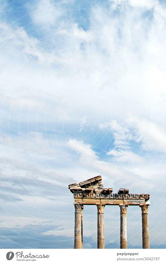 Apollon Tempel in Side Ferien & Urlaub & Reisen Tourismus Ausflug Sightseeing Skulptur Architektur Küste side Türkei Kleinstadt Hafenstadt Altstadt Ruine