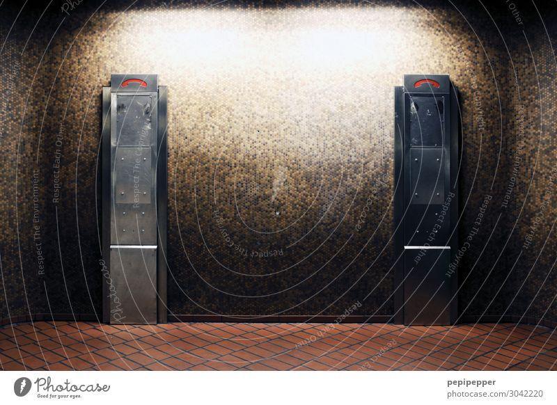 kein Anschluss unter dieser Nummer... rot Wand Mauer Stein braun Fassade Häusliches Leben retro Technik & Technologie Telekommunikation Schilder & Markierungen