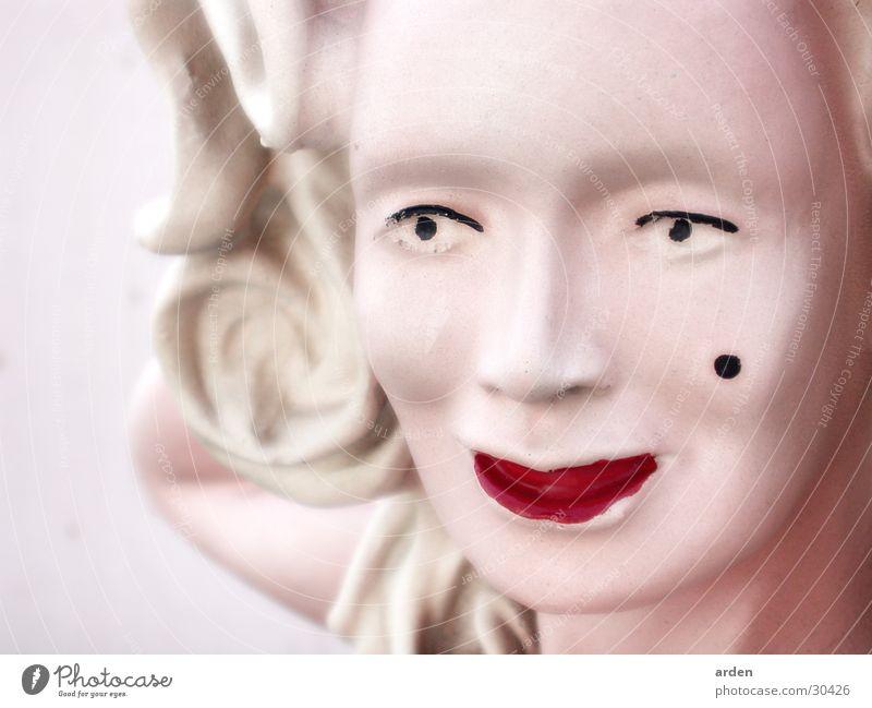 Monroe Gesicht blond rosa Lippen Statue Puppe