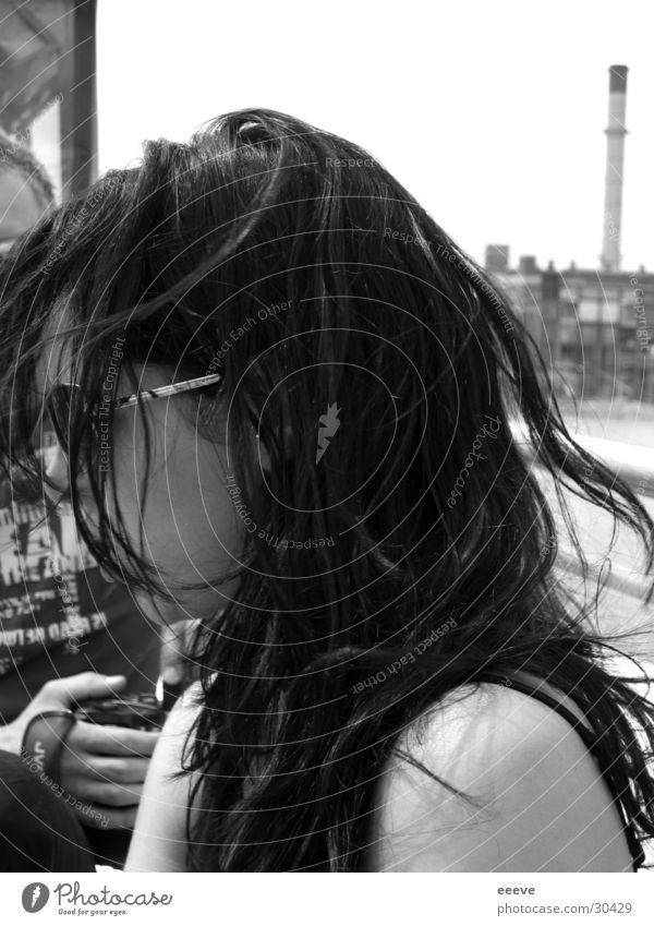vom wind verweht Frau Haare & Frisuren Wind Schulter