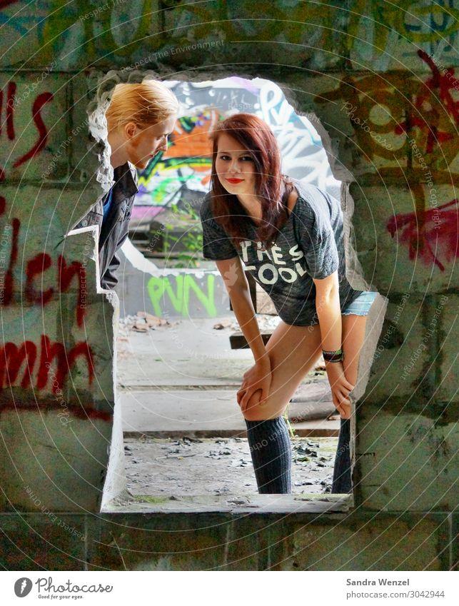 Kids Mensch feminin Jugendliche Körper Haut 2 13-18 Jahre Sommer Gebäude Zeichen Schriftzeichen Ziffern & Zahlen Schilder & Markierungen Graffiti Freude Kraft