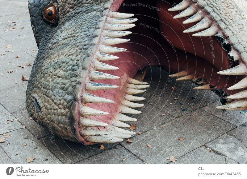das ende des kapitalismus Jahrmarkt Tier Wildtier Tiergesicht Dinosaurier 1 Zeichen außergewöhnlich bedrohlich gruselig wild Angst Todesangst Zukunftsangst Ende