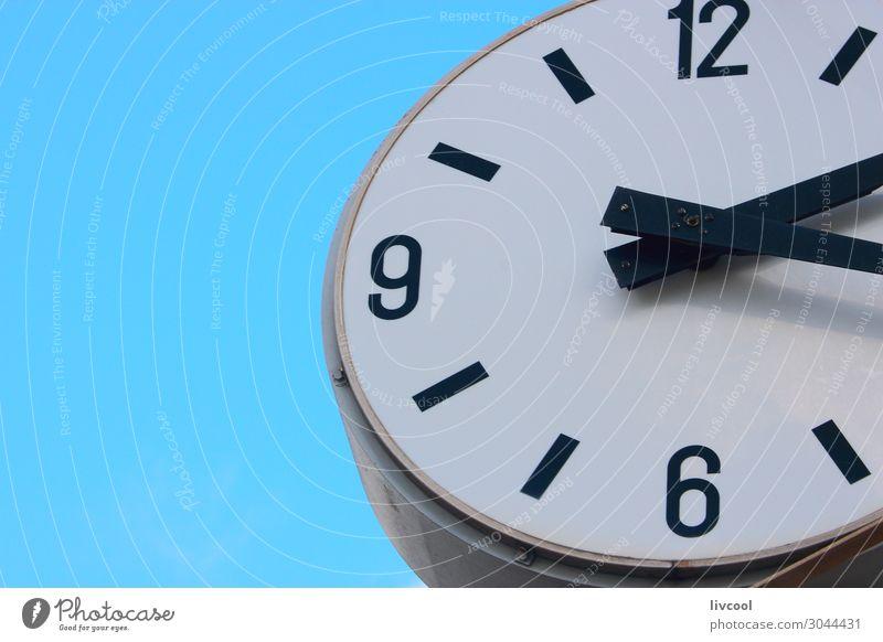 alt blau Stadt Strand Architektur Kunst Dekoration & Verzierung Uhr retro Kommunizieren authentisch Skyline Frankreich Stahl Blauer Himmel Kontrolle
