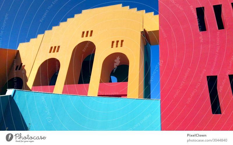 Bunte Gebäude Lifestyle Reichtum Stil Ferien & Urlaub & Reisen Tourismus Städtereise Wohnung Kunst Haus Palast Bauwerk Architektur Mauer Wand Häusliches Leben