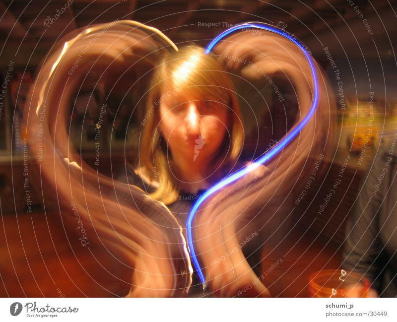 Blue Light Heart Herz