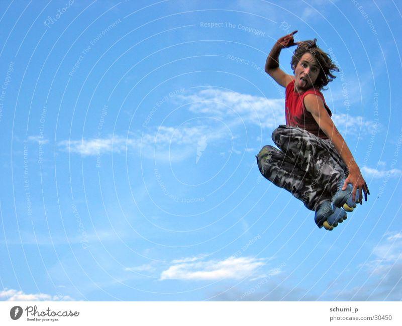 Aggressive Inline Skating Rocks Aggression Rocker Rollschuhe abstrakt Sport Fly fliegen