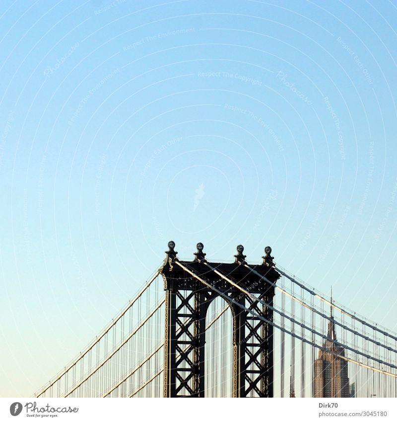 Archetypisches New York Ferien & Urlaub & Reisen Tourismus Ferne Sightseeing Städtereise Sommer Wolkenloser Himmel Schönes Wetter New York City Brooklyn
