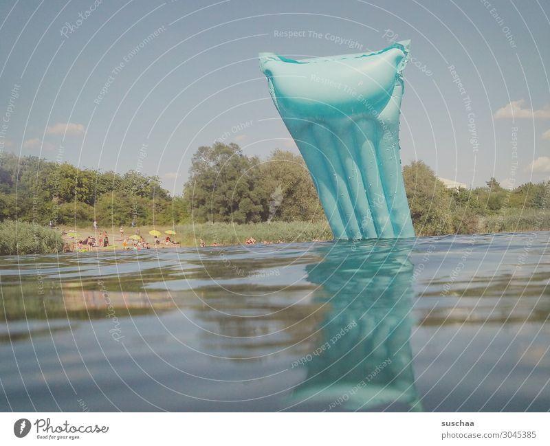 tauchgang ;-) Himmel Ferien & Urlaub & Reisen Wasser Erholung Freude Strand Wärme See Schwimmen & Baden genießen Schönes Wetter nass Wellness Sonnenbad Unfall