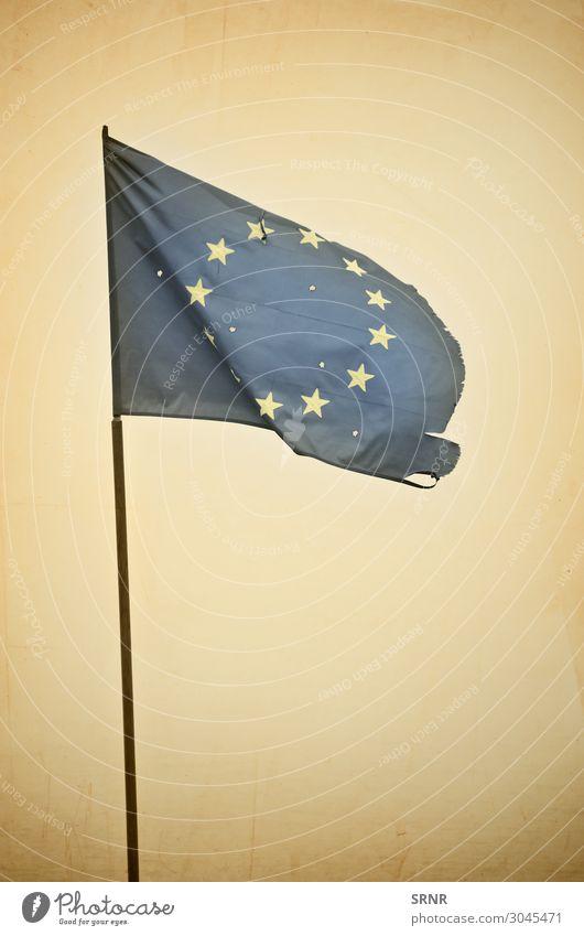 EU-Flagge Fahne retro Europa Europäische Union Flagstaff geflogene Flagge unter der Flagge Nationalflagge keine Person Objektfotografie Stern