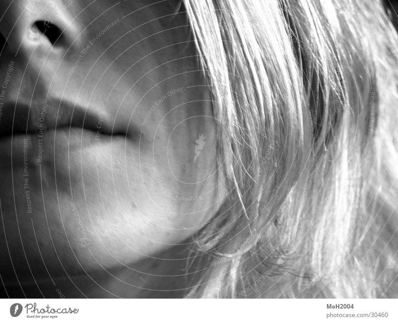 Gesicht Frau blond Kinn Haare & Frisuren Mund Detailaufnahme