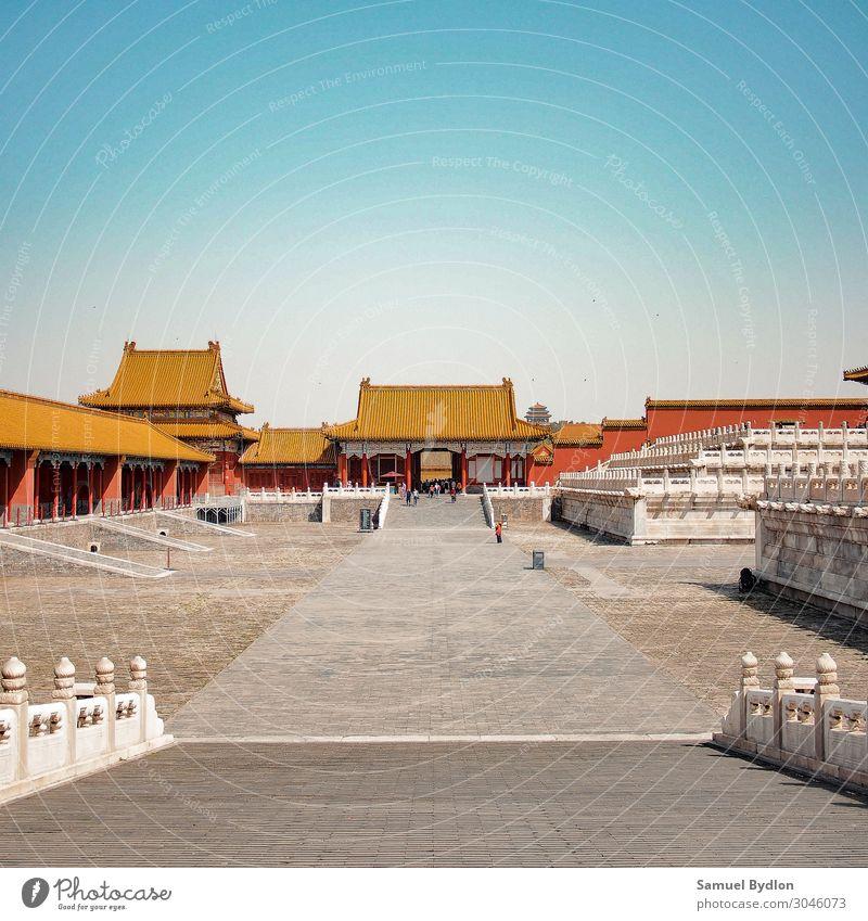 Das Museum des Verbotenen Stadtpalastes in Peking, China Palast Verbotene Stadt Asien Hauptstadt Altstadt Menschenleer Burg oder Schloss Turm Bauwerk Gebäude