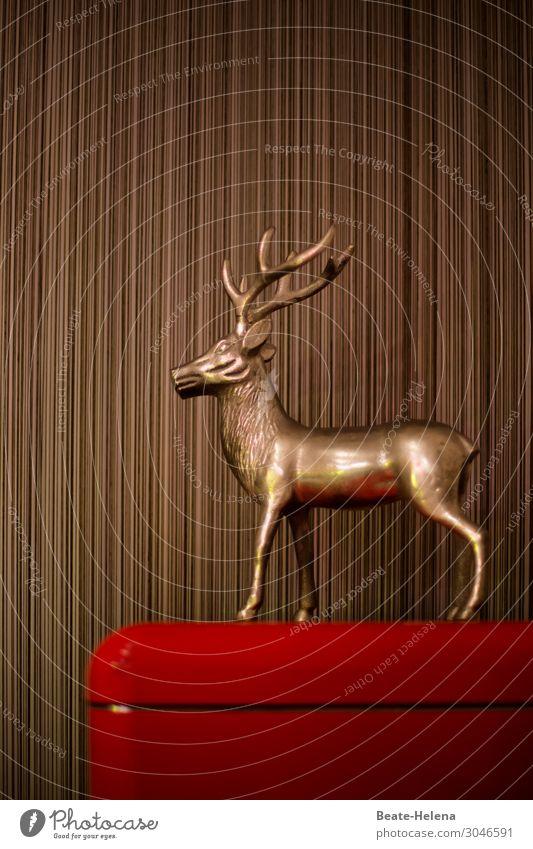 1000 | Goldene Trophäe Lifestyle Innenarchitektur Dekoration & Verzierung Pokal Werbebranche Kunst Skulptur Zeichen ästhetisch sportlich außergewöhnlich