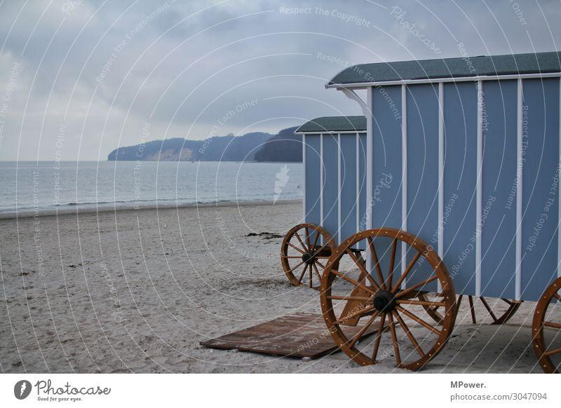 standwagern Ferien & Urlaub & Reisen Natur Landschaft Meer Wolken Ferne Strand Umwelt Sand Ostsee Klippe Strandkorb Wagenräder Strandhaus Strandleben
