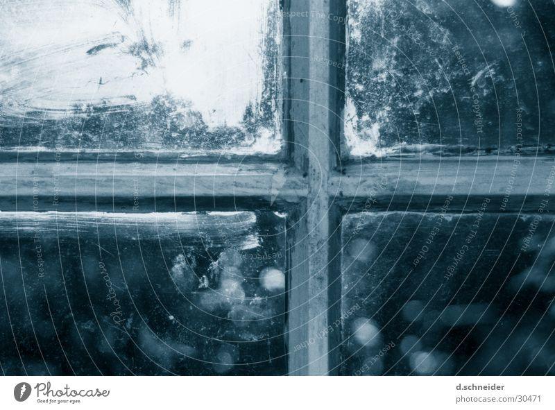 Altes Werkstattfenster Haus Fenster Religion & Glaube Tür Glas verfallen Christliches Kreuz historisch Christentum Scherbe