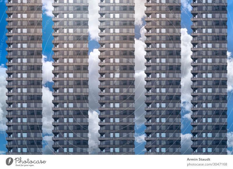 Es gibt doch Wohnungen III Lifestyle Stil Design Häusliches Leben Büro Baustelle Business Stadt Architektur Fassade Beton bedrohlich Unendlichkeit Stimmung
