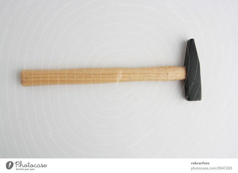 Der Klauenhammer auf weißem Hintergrund Arbeit & Erwerbstätigkeit Industrie Handwerk Werkzeug Hammer Metall Stahl bauen stark schwarz vereinzelt Handgriff