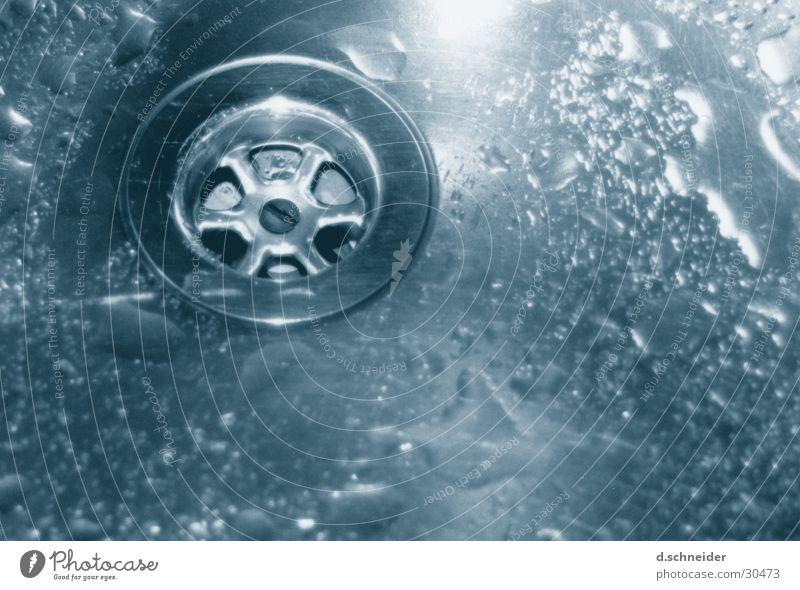 Abflußfrei Wasser Wassertropfen nass Küche Sauberkeit Häusliches Leben Wäsche waschen Abfluss Küchenspüle